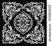 vintage baroque frame scroll...   Shutterstock .eps vector #502883029