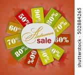 autumn sale banner. vector... | Shutterstock .eps vector #502884265