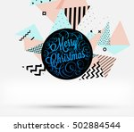 christmas design and elements... | Shutterstock .eps vector #502884544