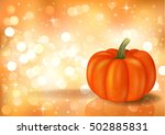 festive background with pumpkin ...