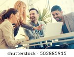 group of business people... | Shutterstock . vector #502885915