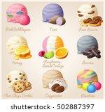 set of cartoon vector icons.... | Shutterstock .eps vector #502887397