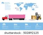 world warehouse info graphics... | Shutterstock .eps vector #502892125