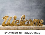 home. decor home. message... | Shutterstock . vector #502904539