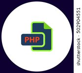 php file extension. flat icon...