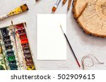 blank sheet of paper and...   Shutterstock . vector #502909615