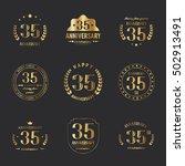 thirty five years anniversary... | Shutterstock .eps vector #502913491