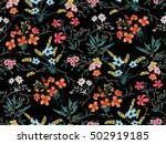 seamless floral pattern in... | Shutterstock .eps vector #502919185