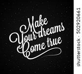 vector vintage lettering. make... | Shutterstock .eps vector #502920661