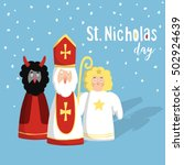 Cute St. Nicholas With Devil...