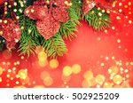 family holiday  christmas tree... | Shutterstock . vector #502925209
