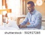handsome businessman in classic ... | Shutterstock . vector #502927285