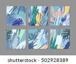 set of creative universal... | Shutterstock .eps vector #502928389