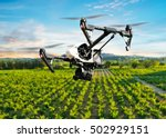drone flying above beautiful... | Shutterstock . vector #502929151