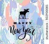 happy new year. vector... | Shutterstock .eps vector #502930081