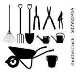 Garden Tools  Instruments Flat...