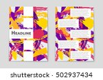 abstract vector layout... | Shutterstock .eps vector #502937434