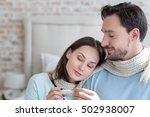 cheerful optimistic couple... | Shutterstock . vector #502938007
