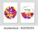 abstract vector layout... | Shutterstock .eps vector #502939291