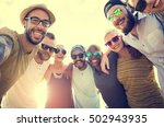 group of people hugging concept | Shutterstock . vector #502943935