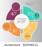business circle info graphic... | Shutterstock .eps vector #502948111