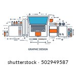 graphic and web design... | Shutterstock .eps vector #502949587