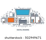 graphic and web design... | Shutterstock .eps vector #502949671