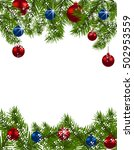 christmas greeting card. green...   Shutterstock .eps vector #502953559