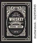 old  label design for whiskey...   Shutterstock .eps vector #502954945