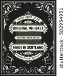 whiskey label with old frames.... | Shutterstock .eps vector #502954951