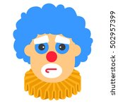 clown sad vector cartoon with... | Shutterstock .eps vector #502957399