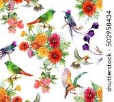 watercolor hand drawn seamless...   Shutterstock . vector #502958434