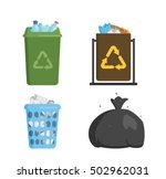 trash bin garbage container and ... | Shutterstock .eps vector #502962031