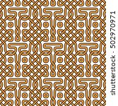 traditional celtic seamless... | Shutterstock .eps vector #502970971