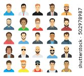 male avatars | Shutterstock .eps vector #502978987