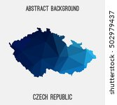 czech republic map in geometric ... | Shutterstock .eps vector #502979437