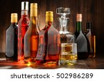 composition with bottles of... | Shutterstock . vector #502986289