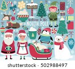 christmas illustration  cute... | Shutterstock .eps vector #502988497