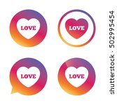 heart sign icon. love symbol. | Shutterstock .eps vector #502995454