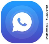 whatsapp purple   blue circular ...