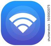 wifi purple   blue circular ui...