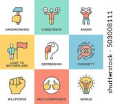 icons of human feelings and... | Shutterstock .eps vector #503008111