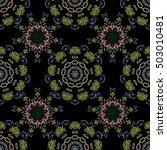 damask seamless pattern in... | Shutterstock .eps vector #503010481