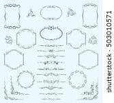 a large set of frames ... | Shutterstock .eps vector #503010571
