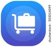 luggage trolley purple   blue...