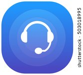 headset purple   blue circular...