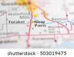 new paris. indiana. usa   Shutterstock . vector #503019475