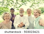 group of senior retirement... | Shutterstock . vector #503023621