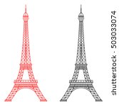 eiffel tower isolated ... | Shutterstock . vector #503033074