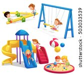 collection of playground... | Shutterstock .eps vector #503033539